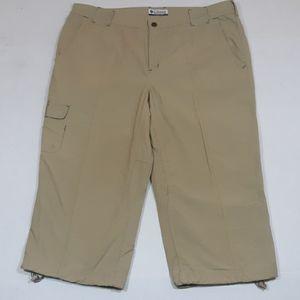 Columbia khaki capri pants womens 12